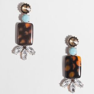 J Crew Crystal and Stone Pendant Earrings